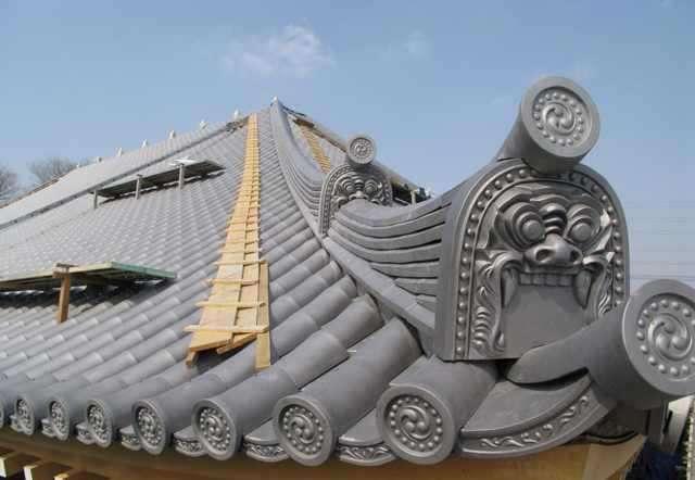 青瓦可以做成各种风格的屋面